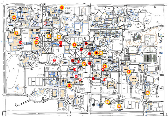 Map | USF Public Art | Institute for Research in Art
