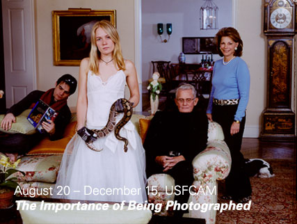 The Importance of Being Photographed - Tina Barney Family Commission with Snake (Waterfalls), 2007. Courtesy of the artist and Janet Borden, Inc., New York
